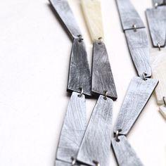 Multi strand pyramid necklace. Genevieve Williamson
