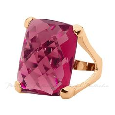 Pastiche Raspberry Crystal Ring in Rose Gold Plated Silver ($120) ❤ liked on Polyvore featuring jewelry, rings, women's accessories, crystal stone rings, crystal stone jewelry, rose gold plated jewelry, crystal jewellery and silver crystal ring