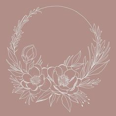 Beautiful hand drawn floral wreath on my iPad Pro by Delia Rose Illustration How exactly Rose Illustration, Floral Illustrations, Flower Wreath Illustration, Blue Wall Decor, Floral Drawing, Peony Drawing, Hand Flowers, Floral Flowers, Wreath Drawing