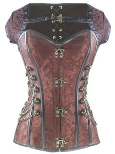 #Walkingon Steel Boned Bustier Tops #Steampunk #Overbust #Corset
