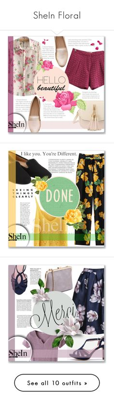 """""""SheIn Floral"""" by azra10 ❤ liked on Polyvore featuring Kim Seybert, Pier 1 Imports, vintage and Anja"""