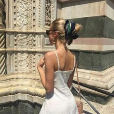 Bun with scarf. Simple classy classic