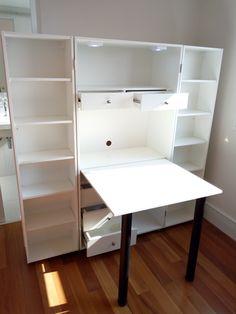 Sewing Room Furniture, Tiny House Furniture, Furniture Plans, Furniture Decor, Craft Storage Cabinets, Craft Room Storage, Locker Storage, Sewing Room Design, Craft Room Design