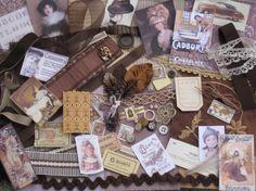 Hot Chocolate Jumbo Vintage Inspiration Kit  180 Pieces  by kbuda