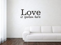 love is spoken here vinyl wall art decal by displayitwithvinyl, $11.80