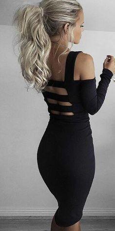 Romoti Got It Off The Shoulder Long Sleeve Dress