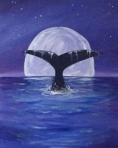 Whale by moonlight