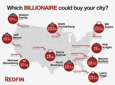 These billionaires could buy every single home in these 10 U.S. cities - GeekWire