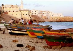 About the Food of Somalia (Global Table Adventures) (Photo Credit: Boats on the beach in Merca, Somalia. -tahir turk)