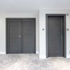 Our grey oak doors are among one of our more popular styles this year. Deuren made to measure doors can be created from your individual specifications and dimensions. Take a look at our recent project for this luxury modern home. Interior Door Styles, Door Design Interior, Interior Doors, Contemporary Internal Doors, Contemporary Interior, Grey Doors, Oak Doors, Self Build Houses, Indoor Doors