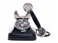 ChicMic Miniaturuhr, Miniatur Uhr - Telefon - Vintage Uhr - Sammleruhr - Tischuhr
