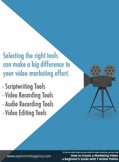 Selecting the right tools for Scriptwriting, Video Recording, Audio Recording and Video Editing can make a big difference to your video marketing effort. To find out which tools are best suited for video marketing, read our blog: [Click on the image] #omagency #video #marketing