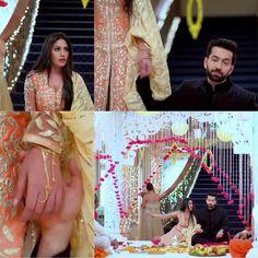 Bollywood Celebrities, Bollywood Fashion, Nakul Mehta, Half Saree Lehenga, Dil Bole Oberoi, Game Of Love, Surbhi Chandna, Special Dresses, Tv Actors