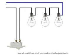 diagrama de conexion 2 focos 2 apagadores  1contacto con