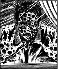 伊藤潤二 - 寒氣  いとう じゅんじ Itō Junji Spooky Scary, Creepy Art, Horror Comics, Horror Art, Ero Guro, Japanese Horror, Junji Ito, Tinta China, Sad Art