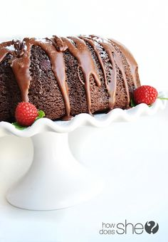 this triple chocolate bundt cake looks amazing via @How Does She