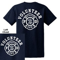 Volunteer Firefighter Duty T-shirt | Fire Department T-Shirts | Firefighter.com