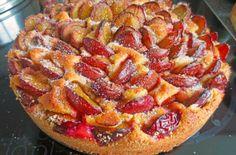 Easy Cake : Plum cake (simple, fast cake for a springform), Plum Cake, Classic Cake, No Cook Desserts, Simply Recipes, Cooking Time, Cooking Recipes, Thanksgiving Recipes, No Bake Cake, Cake Recipes