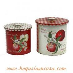 Latas Decorativas Conjunto Latas Retro Manzanas
