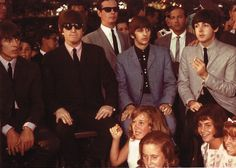 August 24, 1964, The day after their concert at the Hollywood Bowl, the Beatles spent the day as guests of honor at a charity event for the National Hemophilia Association at the home of Alan Livingston, Capitol Records President, in California. The event was attended by many Hollywood celebrities and their children eager to meet the Beatles