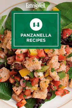 Make a delicious main or side dish with these panzanella recipes. A panzanella is a Tuscan salad that's traditionally made with stale bread and tomatoes. Here, we put our spin on the bread salad with different flavor and ingredient combinations. #salads #saladrecipes #healthysalads #saladideas #healthyrecipes Tuscan Salad, Italian Bread Salad, Stale Bread, Israeli Food, Fall Dishes, Chopped Salad, Grilled Pork, How To Make Salad