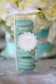 party favors, wedding favors, tiffany blue, french macaroons, wedding colors, client gifts, winter wonderland party, parti, the holiday