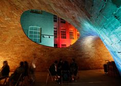 A traditional Spanish construction technique was combined with digital design tools to create this vaulted brick pavilion in a Barcelona courtyard.