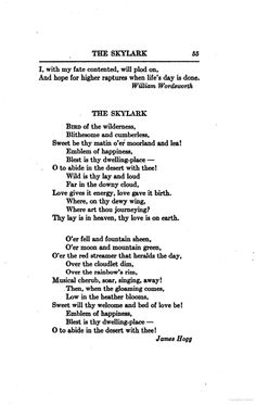 The Skylark James Hogg #poetry http://annabelchaffer.com/