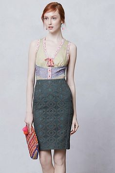 Moss Lace Pencil Skirt #anthropologie