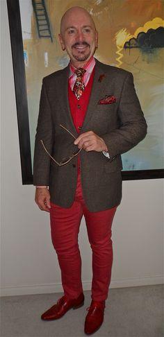 Hugo Boss jacket, Club Monaco cardigan, Banana Republic shirt, Vera Bradley tie, Kill City jeans, Spring shoes...