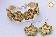 Knitting Jewelry Models - 70 Pcs Knitting Charms Earrings And Necklace Mod .- Örgü Takı Modelleri – 70 Adet Örgü Takılar Küpe Ve Kolye Modelleri Knitting Jewelry Models – Most Beautiful Knitting Jewelry Earring And Necklace Models - Crochet Earrings Pattern, Crochet Bracelet, Crochet Patterns, Flower Bracelet, Crochet Jewellery, Cute Crochet, Crochet Crafts, Knit Crochet, Crochet Daisy