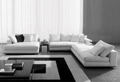 Blackmail Furniture Hamilton Sofa And Side Table By Minotti, White Lies,  Hamilton_sofa_plus_sidetable