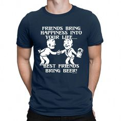 07519f1e #funnyshirts BEST FRIENDS BRING BEER Mens Funny T-Shirt Drinking Craft Ale  Joke Party