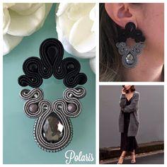 Soutache Pendant, Soutache Earrings, Shibori, Handmade Felt, Handmade Jewelry, Earring Trends, Statement Earrings, Gel Nails, Diy And Crafts