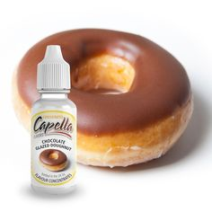 We have the full range of Capella flavour concentrates, the're used for DIY e liquid, see the full range of flavours available, add to food and drinks as well. Chocolate Doughnut Glaze, Flavor Drops, Diy E Liquid, Food, Meals, Yemek, Eten