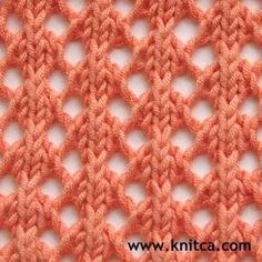 """#Knitting_Stitches #Lace - """"So Simple and So Lovely! Only two rows to learn for this pretty stitch!"""" comment via #KnittingGuru"""