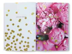 """Peonies and glitter - together at last. (from the Kate Spade """"Things We Love"""" inspiration book)"""