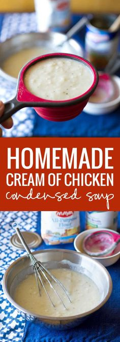Homemade Cream of Chicken Condensed Soup - so easy and much better than store bought | pinchofyum.com