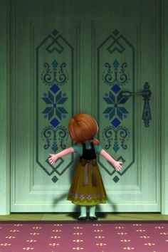 Anna talking to Elsa through the door - FROZEN - It's a Disney World Walt Disney, Frozen Disney, Princesa Disney Frozen, Frozen And Tangled, Disney Love, Disney Magic, Anna Frozen, Frozen 2013, The Aristocats