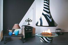 フードタイプ暖炉「エバ 992 センターモデル ゼブラ」