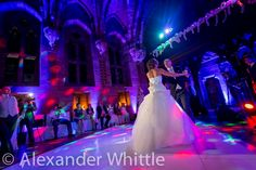 Pure White Dance Hire at Peckforton Castle. http://www.peckfortoncastle.co.uk/weddings