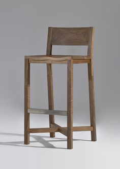 TheNash Stool is made of solid wood.