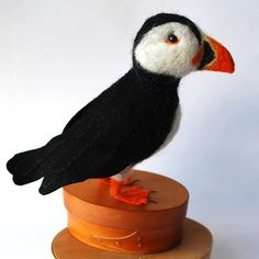 An Original Needle Felted Animal Puffin