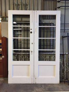 Eight light French doorset [FEB16-17] - $450.00 : Pasadena Architectural Salvage!, Architectural Salvage, Architectural Antiques Salvage