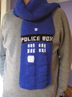 Happy Birthday, Dr. Who!   Knit Purr Live - scarf via Ravelry