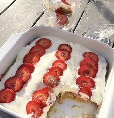 Tiramisu met rabarber en aardbeien