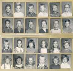 School Photos 1970's Kids. not my class but we dressed just like this ..