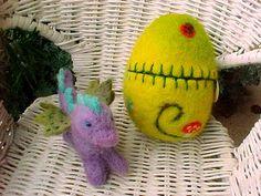 Ready to Ship  Magical Dragon Egg Waldorf by HillcountryDollmaker, $28.00