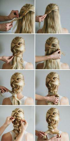 femme-viking-tutoriel-pour-faire-une-tresse-cheveux-blonds-attachés-mèches-brunes