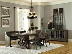 Incredible round formal dining room sets for sale you'll love Dining Room Sets, Casual Dining Rooms, Kitchen Dining Sets, Dining Room Table, Small Dining, Dining Chairs, Dining Area, Wood Dining Bench, Extendable Dining Table
